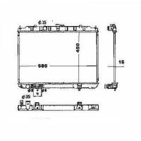 Radiateur, refroidissement du moteur 450 x 690 de 01 à 07 - OEM : 21460EQ30B