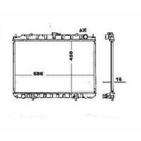Radiateur, refroidissement du moteur 450 x 690 de 03 à 07 - OEM : 214108H801
