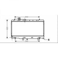 Radiateur, refroidissement du moteur 340 x 686 de 98 à 03 - OEM : 45111FE080