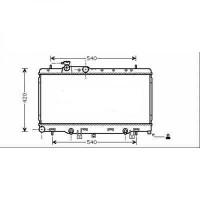 Radiateur, refroidissement du moteur 340 x 686 de 98 à 03 - OEM : 45119FE050