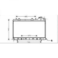 Radiateur, refroidissement du moteur 360 x 686 de 02 à 05 - OEM : 45111SA031