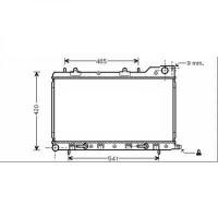 Radiateur, refroidissement du moteur 360 x 686 de 02 à 05 - OEM : 45111SA011