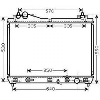 Radiateur, refroidissement du moteur 690 x 450 x 16 de 05 à 09 - OEM : 1770066J10