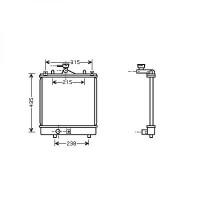 Radiateur, refroidissement du moteur 375 x 357 de 00 à 03 - OEM : 1770080G00