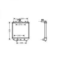 Radiateur, refroidissement du moteur 375 x 360 de 03 à >> - OEM : 1770083