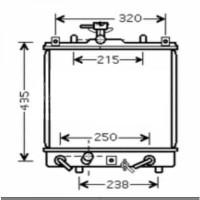 Radiateur, refroidissement du moteur 375 x 350 de 00 à 03 - OEM : 1770080G10