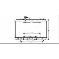 Radiateur, refroidissement du moteur boite auto de 06 à >> - OEM : 1770079J10