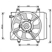 Ventilateur refroidissement du moteur sans climatisation de 04 à 07 - OEM : 2538007000