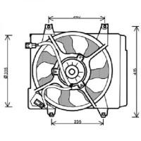 Ventilateur condenseur de climatisation de 04 à 07 - OEM : 253807000