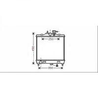 Radiateur, refroidissement du moteur 355 x 398 de 04 à >>
