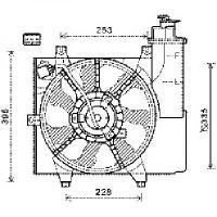 Ventilateur refroidissement du moteur de 09 à 11 - OEM : 2538007510