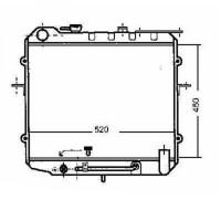 Radiateur, refroidissement du moteur 450 x 520 de 99 à 01 - OEM : 2531033150