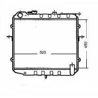 Radiateur, refroidissement du moteur 450 x 520 de 99 à 01 - OEM : OK05415200A
