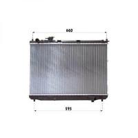 Radiateur, refroidissement du moteur 430 x 670 de 02 à 06 - OEM : OK2FA15200A