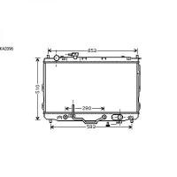 Radiateur, refroidissement du moteur 430 x 670 de 02 à 06 - OEM : 0K2JC15200A