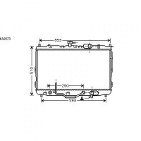 Radiateur, refroidissement du moteur 670 x 430 de 02 à 06 - OEM : 0K2KH15200A