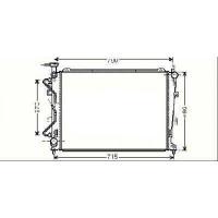 Radiateur, refroidissement du moteur 640 x 490 de 06 à 13 - OEM : 253101D170