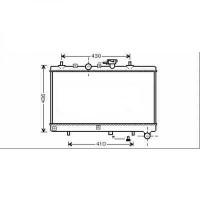 Radiateur, refroidissement du moteur 350 x 647 de 02 à 05 - OEM : OK30C15200B