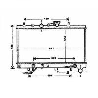 Radiateur, refroidissement du moteur boite auto de 02 à 05 - OEM : 25310FD000