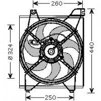 Ventilateur refroidissement du moteur de 05 à >> - OEM : 253861G000
