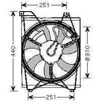 Ventilateur condenseur de climatisation de 05 à >> - OEM : 977301G000