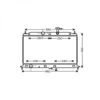 Radiateur, refroidissement du moteur 370 x 540 de 05 à >> - OEM : 253101G100