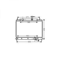 Radiateur, refroidissement du moteur 370 x 540 de 05 à >> - OEM : 253101G300