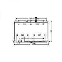Radiateur, refroidissement du moteur 370 x 642 de 05 à >> - OEM : 253101G100
