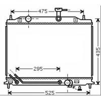 Radiateur, refroidissement du moteur 370 x 540 de 05 à >> - OEM : 253101G350