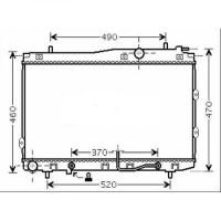 Radiateur, refroidissement du moteur 375 x 670 de 04 à >> - OEM : 253102F050