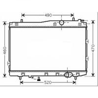 Radiateur, refroidissement du moteur 375 x 670 de 04 à 06 - OEM : 253102F300