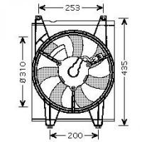 Ventilateur condenseur de climatisation de 04 à 09 - OEM : 977862F000