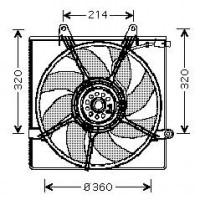 Ventilateur refroidissement du moteur boite manuelle de 98 à 06 - OEM : OK55215025A