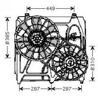 Ventilateur refroidissement du moteur de 02 à 06 - OEM : 977863E600