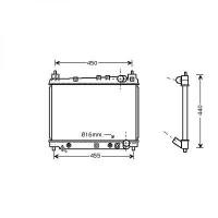 Radiateur, refroidissement du moteur 350 x 488 de 99 à 05 - OEM : 1640021090