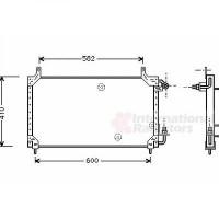 Radiateur, refroidissement du moteur 630 x 350 x 16 de 06 à >>