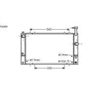 Radiateur, refroidissement du moteur 600 x 350 de 03 à 09 - OEM : 1604121282