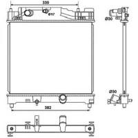 Radiateur, refroidissement du moteur 375 x 400 de 08 à >> - OEM : 16400-33100