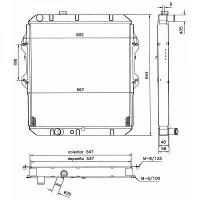 Radiateur, refroidissement du moteur 550 x 525 de 97 à 05 - OEM : 164005B620