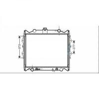 Radiateur, refroidissement du moteur 575 x 638 de 96 à 02 - OEM : 1640075181