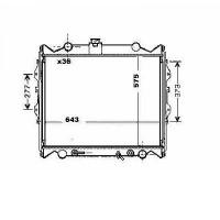 Radiateur, refroidissement du moteur 575 x 643 de 96 à 02 - OEM : 1640067141