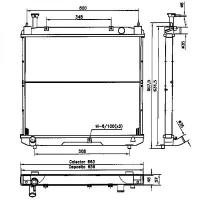 Radiateur, refroidissement du moteur de 96 à >> - OEM : 1640075321