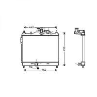 Radiateur, refroidissement du moteur 372 x 495 de 02 à >> - OEM : 253101C300