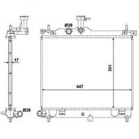 Radiateur, refroidissement du moteur 447 x 351 x 17 de 07 à >> - OEM : 253100X300