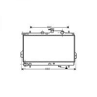 Radiateur, refroidissement du moteur 360 x 624 de 01 à 05 - OEM : 2531017800