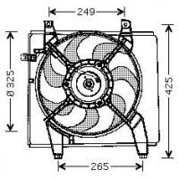Ventilateur condenseur de climatisation de 04 à 07 - OEM : 253862D000