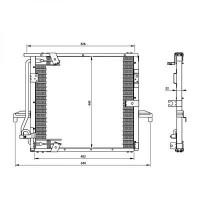 Radiateur, refroidissement du moteur 600 x 455 de 07 à >>