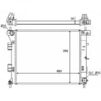 Radiateur, refroidissement du moteur 480 x 395 de 2012 à >> - OEM : 25310A5800