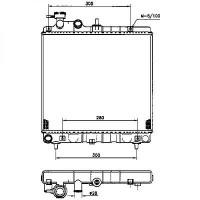 Radiateur, refroidissement du moteur 355 x 400 de 98 à 03 - OEM : 2531002100
