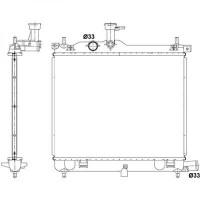 Radiateur, refroidissement du moteur 346 x 446 x 17 de 08 à 11 - OEM : 253100X400